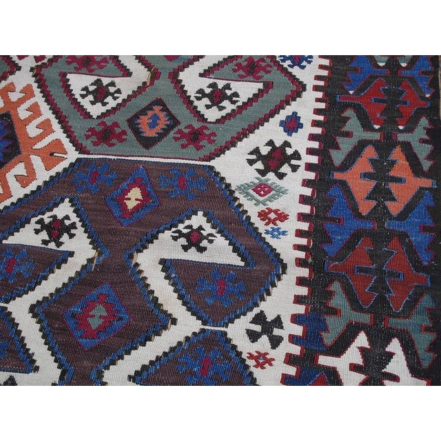 Red Antique Aksaray Kilim For Sale - Image 8 of 10
