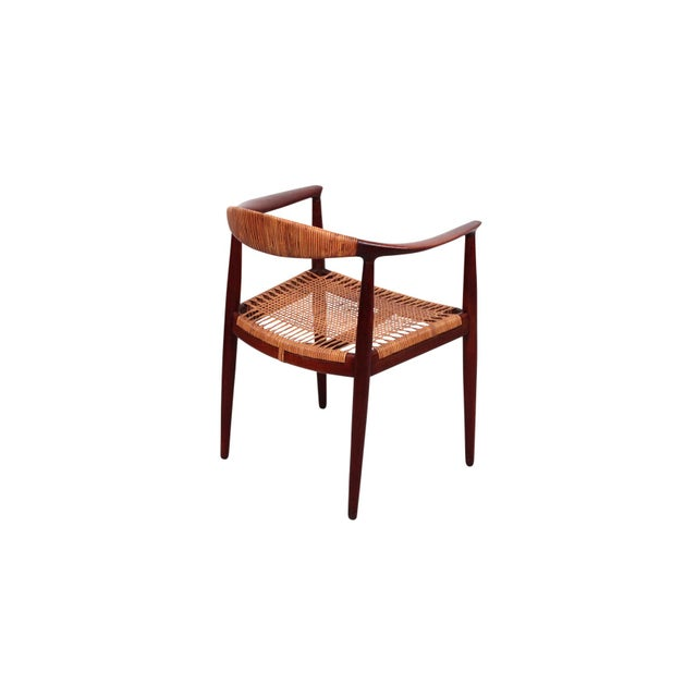 Hans Wegner Hans Wegner Classic Cane Chair For Sale - Image 4 of 13
