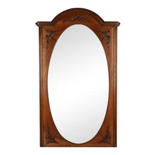 French Carved Walnut Trumeau Mirror For Sale