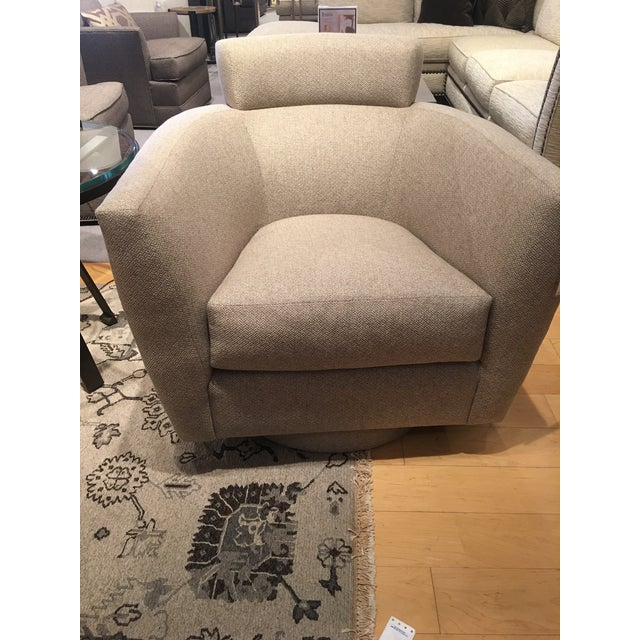Contemporary Modern Swivel Chairs - A Pair For Sale - Image 3 of 5