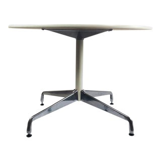 Herman Miller Round Aluminum Group Table For Sale