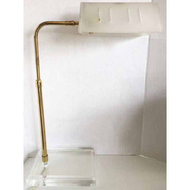 Bauer Lucite & Brass Desk Lamp - Image 8 of 9