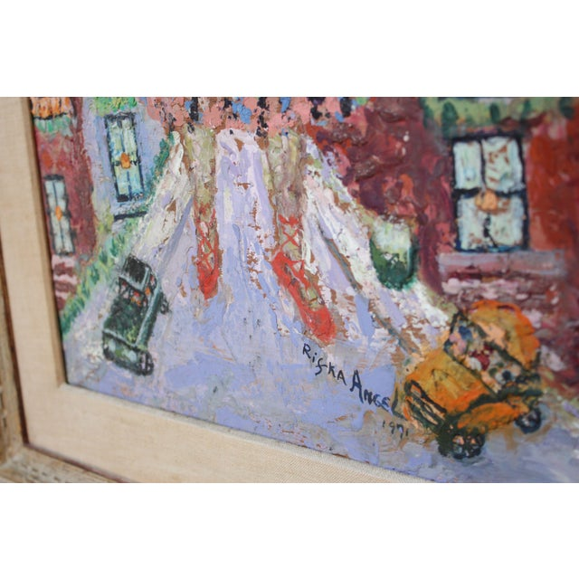 1970s 'Giant Woman' Encaustic Painting by Rifka Angel, 1971 For Sale - Image 5 of 13