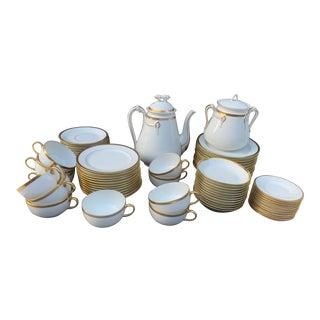 Limoges Wedding Band China Tea Set - 69 Piece Set For Sale
