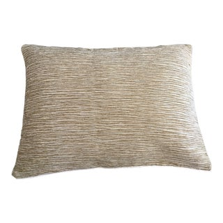 Camel Beige Crinkle Chenille Pillow