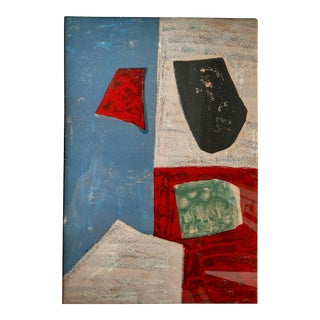 """Serge Poliakoff, 1958 """"Untitled"""" Lithograph, Framed For Sale"""