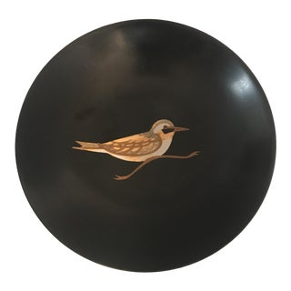 1970s Couroc Company Inlaid Wood Bird Dish For Sale