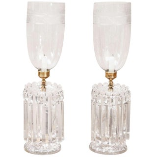 Mid 19th Century Regency Style Hurricane Lustres-a Pair For Sale