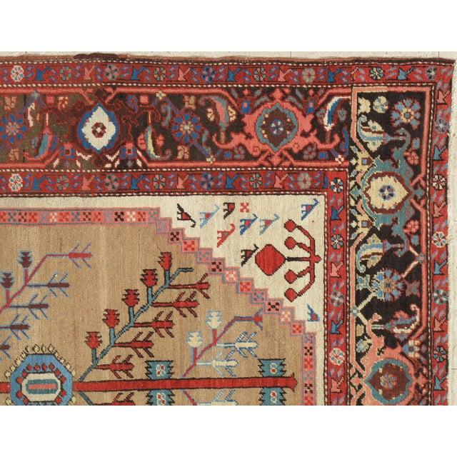 """Mid-Century Modern Antique Serapi Bakhshayesh Rug-4'6x6'6"""" For Sale - Image 3 of 12"""