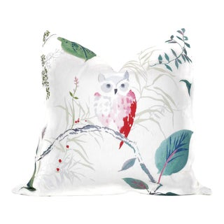 "20"" x 20"" Owlish White Pillow Cover"