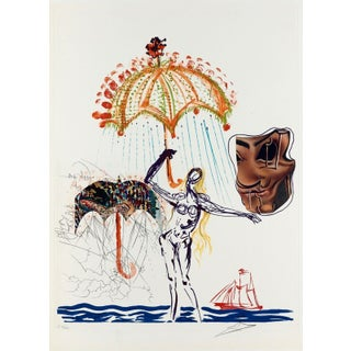 1975 Salvador Dalí­ Anti-Umbrella w/ Atomized Liquid (Imagination & Objects of the Future) Print For Sale
