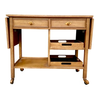"""Vintage Mid-Century Broyhill """"Expressions"""" Bar Cart For Sale"""