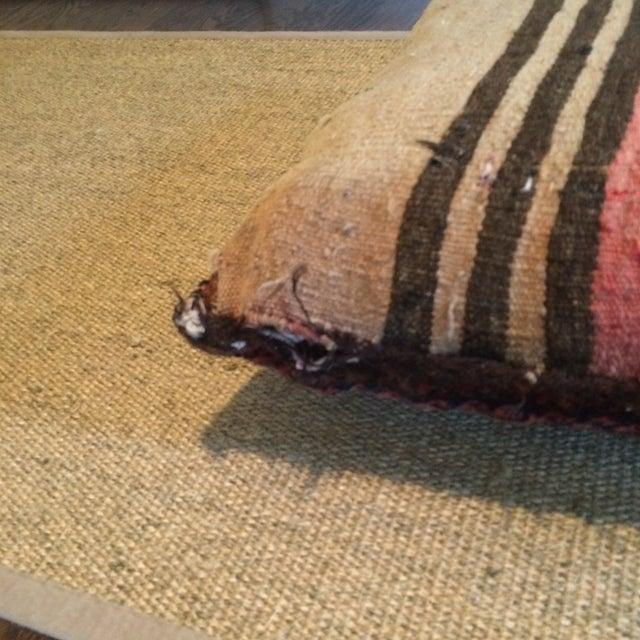 Vintage Rug Remnant Floor Pillow - Image 6 of 10