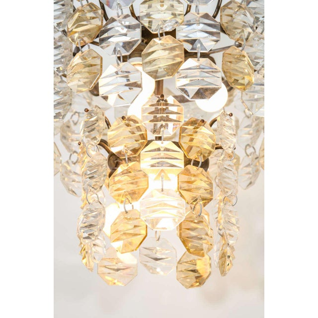 Two-Toned Murano Glass Chandelier For Sale - Image 4 of 7