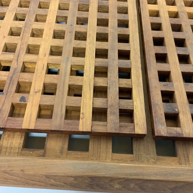 1960s 1960s Mid Century Dansk Teak Trivets and Tray For Sale - Image 5 of 7