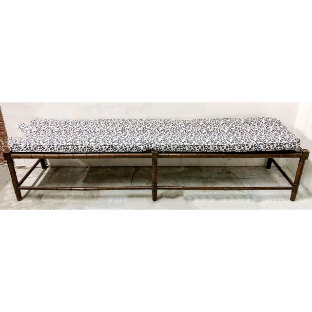 Extra Long Faux Bamboo Bench - Image 6 of 6