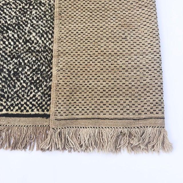 "1990s Vintage Tribal Berber Wool Checkerboard Rug-5'2"" X 8'8"" For Sale - Image 5 of 10"
