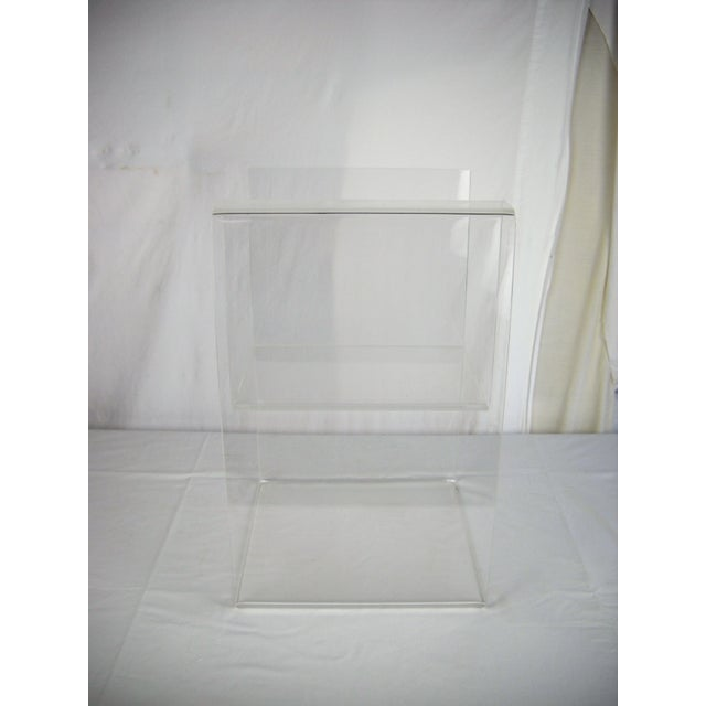 Large Lucite 2-Level Magazine Rack For Sale In Orlando - Image 6 of 9