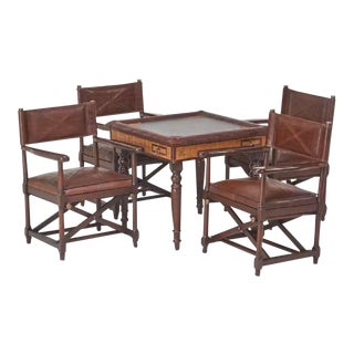 1990s Safari Table and Four Serengeti Chairs - 5 Pieces For Sale