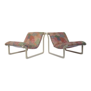 1970s Knoll Sling Lounge Chairs by Hannah & Morrison - A Pair For Sale
