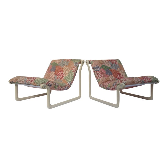 1970s Knoll Sling Lounge Chairs by Hannah & Morrison - A Pair - Image 1 of 11