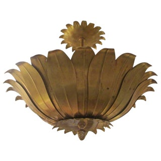 Foliage Brass Fixture For Sale