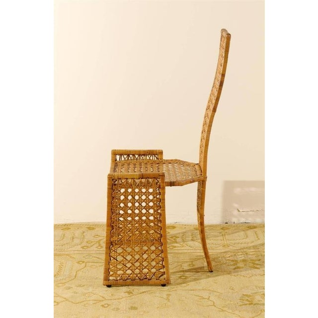 1970s Fabulous Set of Twelve Rattan Dining Chairs by Danny Ho Fong For Sale - Image 5 of 11