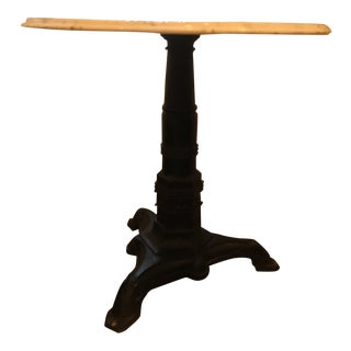 Art Deco Marble and Iron Bistro Table For Sale