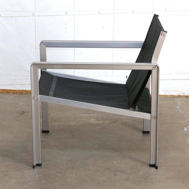 Black Giuseppe Raimondi Design Modern Aluminum Cube Chairs For Sale - Image 8 of 13