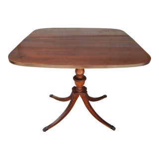 1960's Expanding Hand-Carved Card Table For Sale