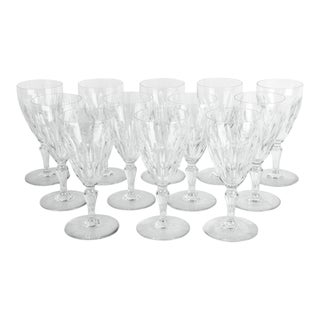 Mid 20th Century Baccarat Glassware - Set of 12 For Sale