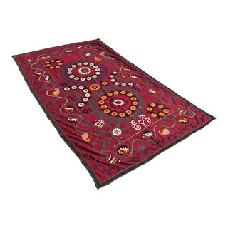Dark Red Suzani Tablecloth
