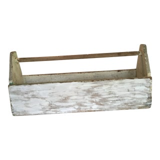 Rustic Farmhouse Wood Tool Carrier For Sale
