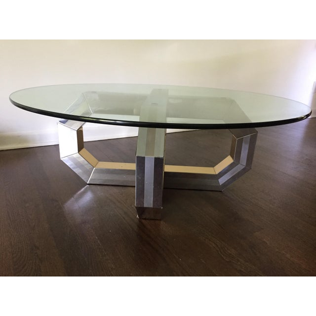 Brass Vintage Paul Evans Style Coffee Table For Sale - Image 7 of 7