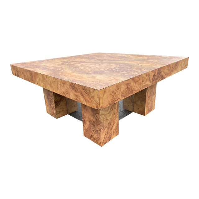 This is a wonderful looking unique table cover in laminate wood burl with a mirrored base which gives it a very unique look.