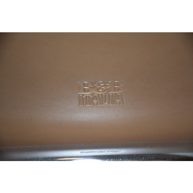 2010s B&b Italia Leather Mart Chair For Sale - Image 5 of 12