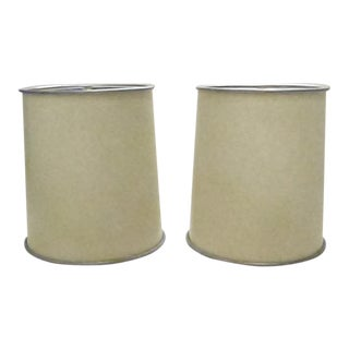 Parchment Lamp Shades - a Pair For Sale