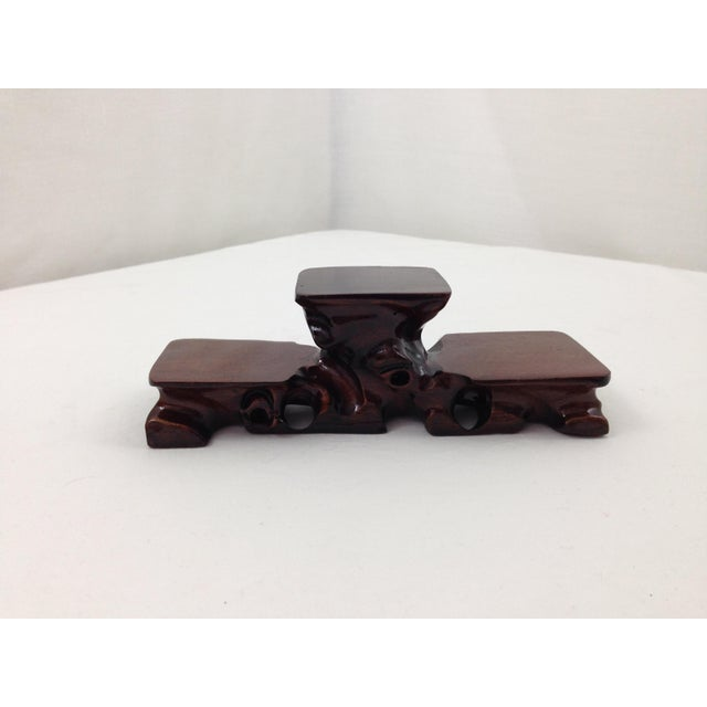 Asian Hand Carved Curiosity Stand - Image 2 of 4