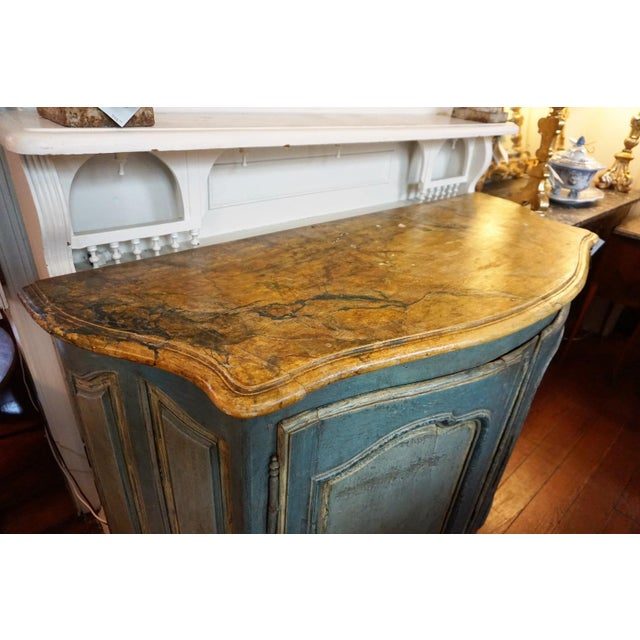 18th Century Italian Painted Credenza For Sale In New Orleans - Image 6 of 10