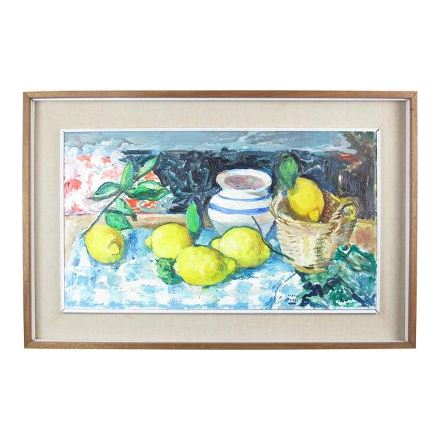 Vintage Mid-Century Mario Bucci Italian Modernist Still Life Painting For Sale