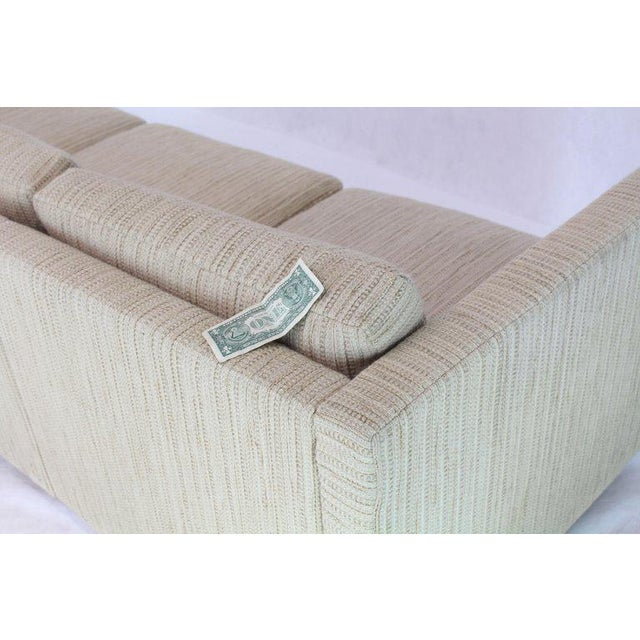 1970s Vintage Cream Wool Upholstery Box Shape Knoll Sofas Baughman Probber- a Pair For Sale - Image 9 of 13