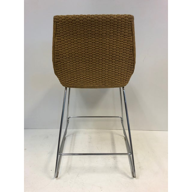 1970s Set of Three McGuire Rope Stools For Sale - Image 5 of 6