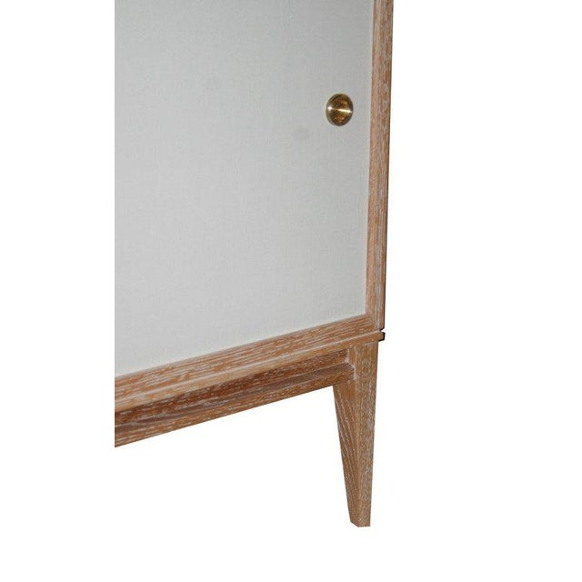 2000 - 2009 Customizable Bishop Lacquered Linen Door Console For Sale - Image 5 of 9