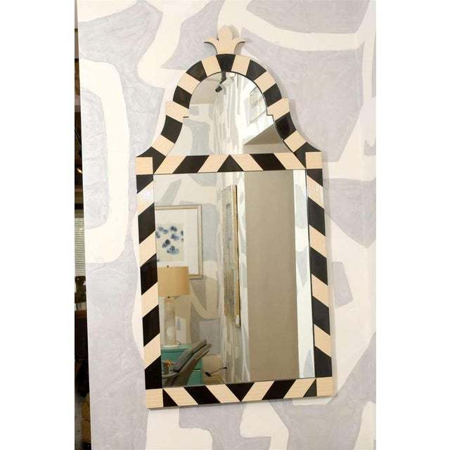 Fabulous Pair of Modern High Style Mirrors in Cream and Black For Sale - Image 9 of 10