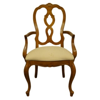Thomasville Furniture French Court Collection Dining Arm Chair For Sale