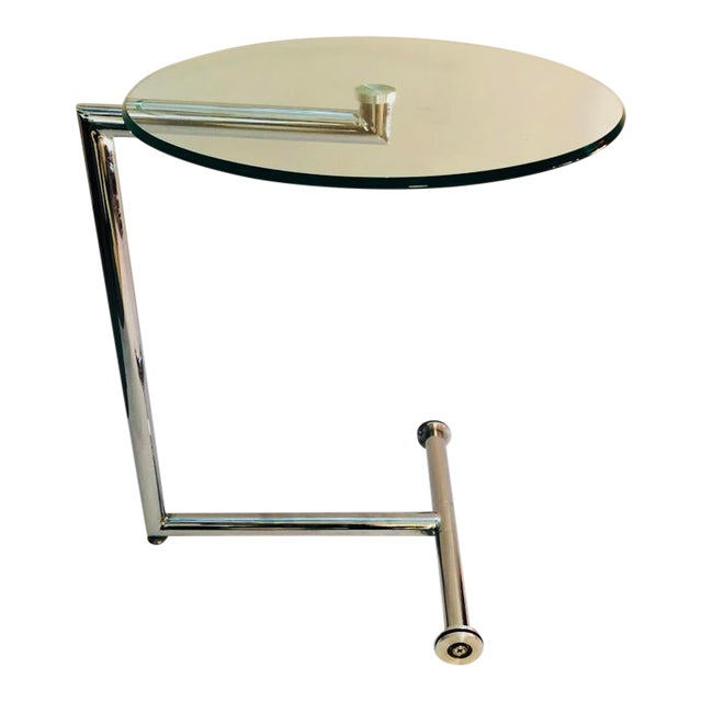 Morn Chrome Finished Stainless Steel Base Side Table For Sale