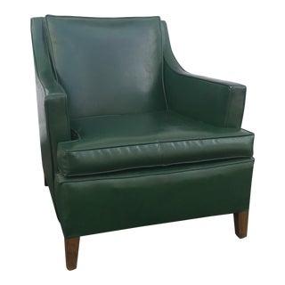 Mid-Century Modern Vinyl Club Chair