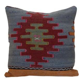 Antique Turkish Kilim Rug Pillow For Sale