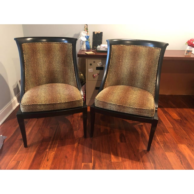 20th Century Traditional Ethan Allen Accent Chair - Animal Print - a Pair For Sale - Image 12 of 12