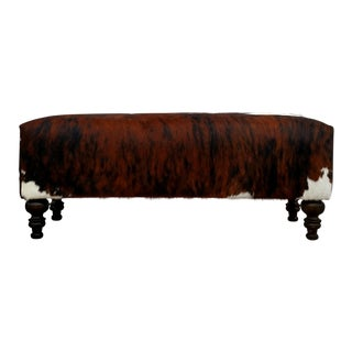 Modern Gambrell Renard Classic Cowhide Bench For Sale